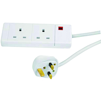CED EXTENSION LEAD 2 WAY WHT