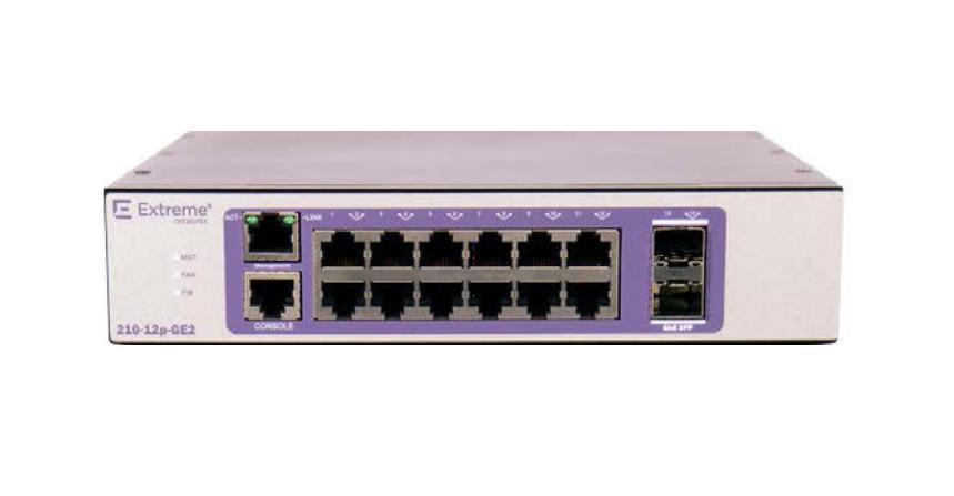 Extreme networks 210-12P-GE2 Gestionado L2 Gigabit Ethernet (10/100/1000) Bronce, Púrpura Energía sobre Ethernet (PoE)