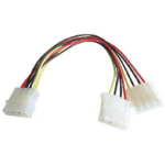 TARGET 4-Pin Molex (M) to 2 x 4-Pin Molex (F + F) 0.2m OEM Internal Splitter Cable