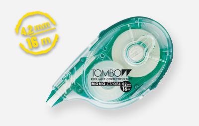 Tombow Mono YXE correction tape Green,Transparent,White 16 m