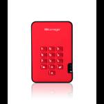 iStorage diskAshur2 256-bit 1TB USB 3.1 secure encrypted hard drive - Red IS-DA2-256-1000-R