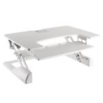Newstar Sit-Stand Desktop Workstation - White