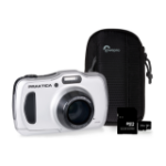 Praktica WP240 Waterproof Camera Kit inc 32GB MicroSD Card and Case - Silver
