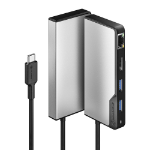 ALOGIC UCFUPRGE-SGR interface hub USB 3.2 Gen 1 (3.1 Gen 1) Type-C 5000 Mbit/s Black, Silver