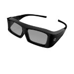 HP XC554AA#ABB stereoscopic 3D glasses Black