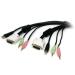 StarTech.com Cable KVM 4 en 1 de 1,8m con DVI USB Audio y Micrófono