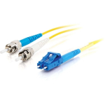 C2G 85596 2m LC ST Yellow fiber optic cable