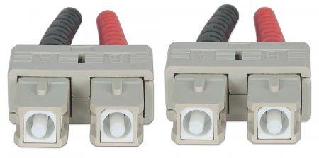 Intellinet 750844 5m Sc Sc Lszh Om3 Aqua Fiber Optic Cable