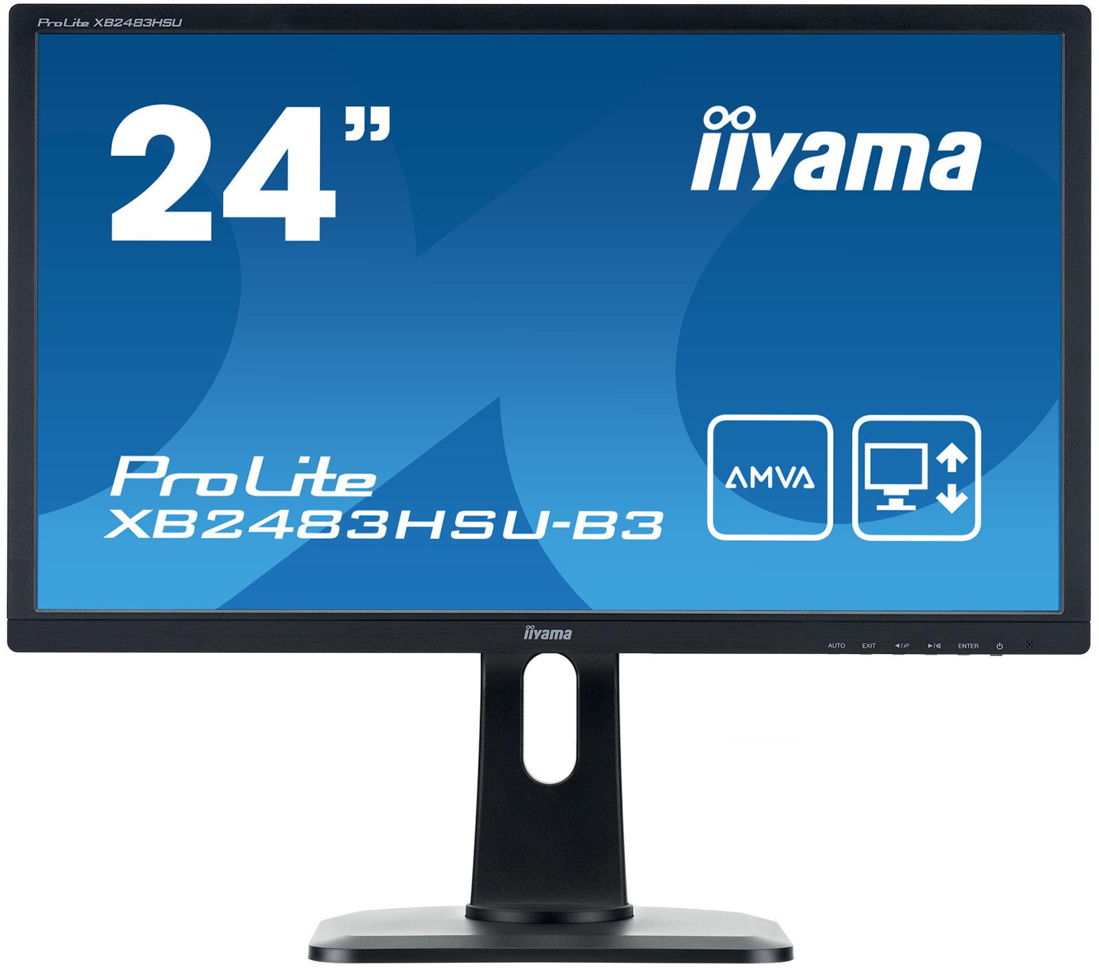 "iiyama ProLite XB2483HSU-B3 LED display 60.5 cm (23.8"") 1920 x 1080 pixels Full HD Flat Matt Black"