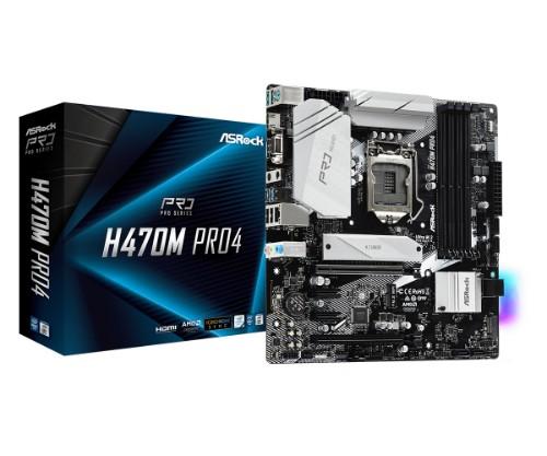 Asrock H470M Pro4 Intel H470 LGA 1200 micro ATX