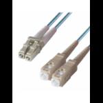 DP Building Systems 3-DX-LC-SC-1-AA fibre optic cable 1 m OM3 Blue,Aqua colour
