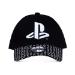 Sony Playstation Logo Baseball Cap, Unisex, Black/White (BA322016SNY)