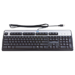 HP USB Standard keyboard QWERTY Danish Black,Silver