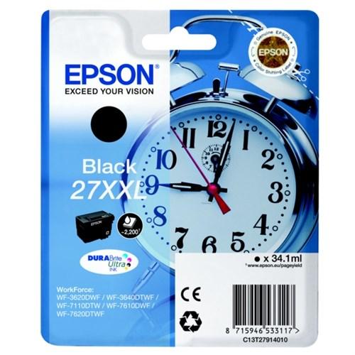 Epson C13T27914022 (27XXL) Ink cartridge black, 2.2K pages, 34ml