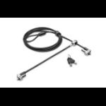 Kensington N17 Keyed Dual Head Laptop Lock for Wedge-Shaped Slots