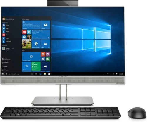 "HP EliteOne 800 G5 60.5 cm (23.8"") 1920 x 1080 pixels 9th gen Intel® Core™ i7 8 GB DDR4-SDRAM 256 GB SSD Wi-Fi 5 (802.11ac) Silver All-in-One PC Windows 10 Pro"