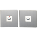 EnerGenie MIHO046 light switch Brushed steel,White