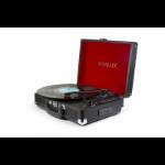 Technaxx TX-101 Belt-drive audio turntable Black,Red
