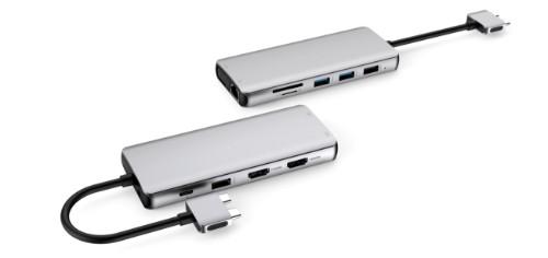 eSTUFF USB-C Dual USB-C Dock USB 3.2 Gen 1 (3.1 Gen 1) Type-C 5000 Mbit/s Aluminium, Metallic