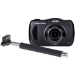 Praktica Luxmedia Waterproof WP240 Graphite Grey Camera inc free Selfie Stick
