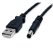 StarTech.com USB2TYPEM 0.9m USB A Barrel type M Black power cable
