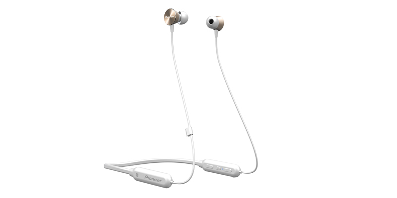 PIONEER QL7 MOBILE HEADSET BINAURAL NECK-BAND GOLD,WHITE