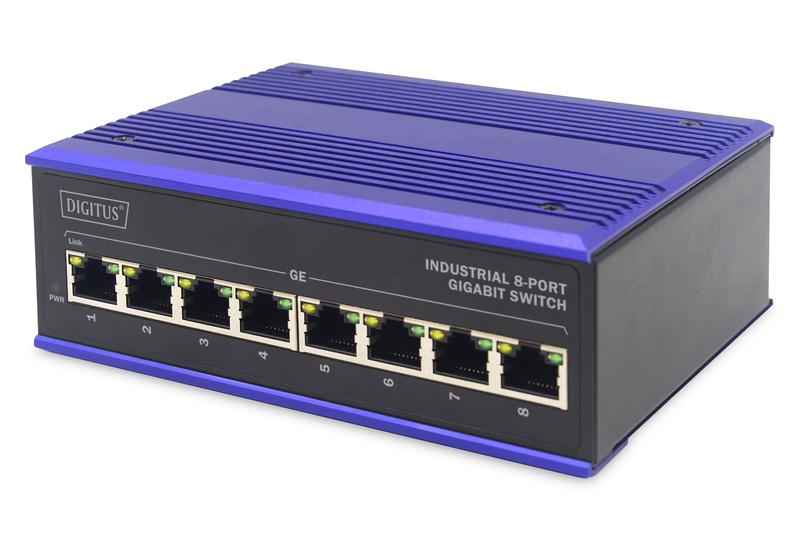 ASSMANN Electronic DN-651119 netwerk-switch Gigabit Ethernet (10/100/1000) Zwart, Blauw