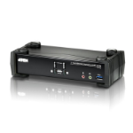 ATEN 2 Port USB 3.0 4K DisplayPort KVMP Switch  Support HDCP, 4096 x 2160 @ 60Hz, DP 1.2, Mouse emulation
