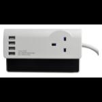 SMJ SDESKT 1AC outlet(s) 1.4m Black,White surge protector
