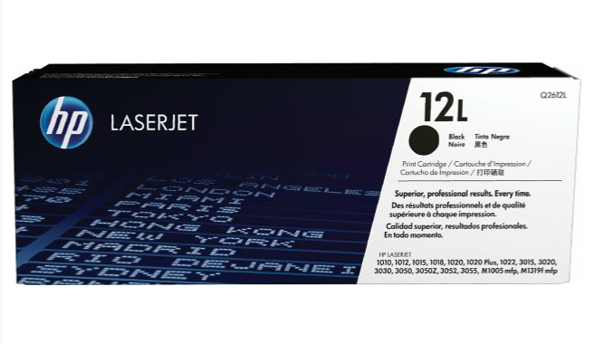 HP Q2612L (12L) Toner black, 1000 pages
