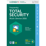 Kaspersky Lab Total Security – Multi-Device 2016 Base license 3user(s) 1year(s) English