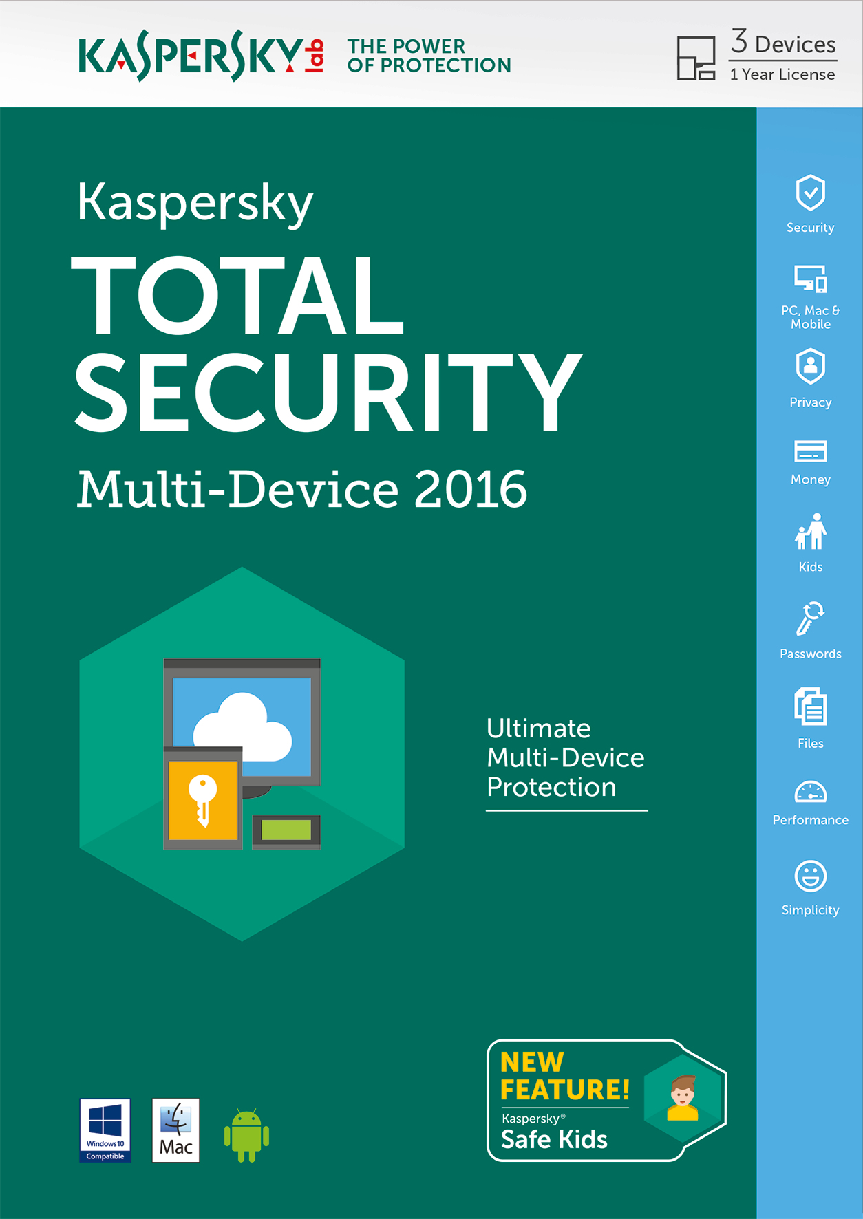 Kaspersky Lab Total Security - Multi-Device 2016