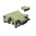 Microconnect DVI/HD15 DVI HD15 Grey cable interface/gender adapter