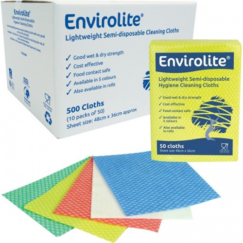Envirolite Folded Cleaning Cloth Large (48x36cm) Blue PK50