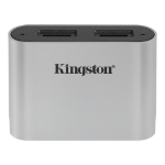 Kingston Technology Workflow microSD Reader card reader USB 3.2 Gen 1 (3.1 Gen 1) Type-C Black, Silver