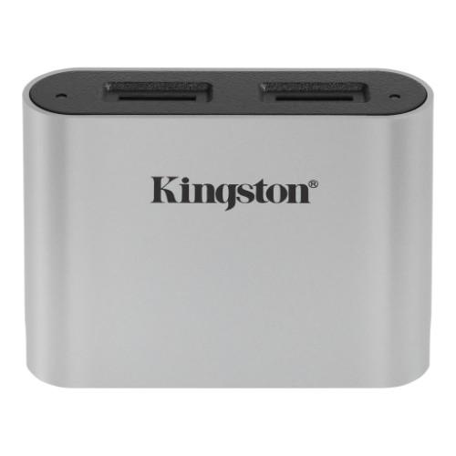 Kingston Technology Workflow microSD Reader card reader USB 3.2 Gen 1 (3.1 Gen 1) Type-C Black, Silver