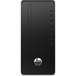 HP 290 G4 DDR4-SDRAM i3-10100 Micro Tower 10th gen Intel® Core™ i3 8 GB 256 GB SSD Windows 10 Pro PC Black