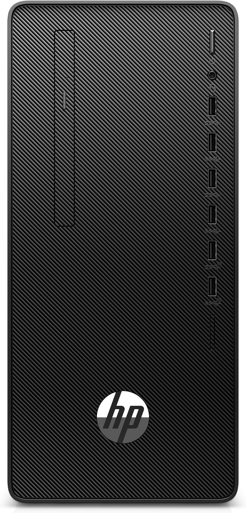 HP 290 G4 DDR4-SDRAM i3-10100 Micro Tower 10th gen Intel-� Core��� i3 8 GB 256 GB SSD Windows 10 Pro PC Black