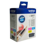Brother LC3317 COLOUR VALUE PACK 1XCYAN 1X MAGENTA 1X YELLOW