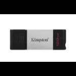 Kingston Technology DataTraveler 80 USB flash drive 128 GB USB Type-C 3.2 Gen 1 (3.1 Gen 1) Black, Silver