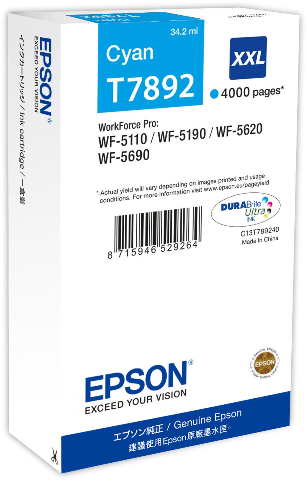 Epson Ink Cartridge XXL Cyan