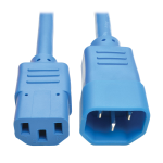 Tripp Lite Heavy-Duty Power Extension Cord, 15A, 14 AWG (IEC-320-C14 to IEC-320-C13), Blue, 0.91 m