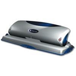 Rexel Precision 425 4 Hole Punch Silver/Black