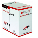 Techly F/UTP Hank Cable Cat.5E CCA 305m Solid Outdoor Black ITP8-RIS-0305LO