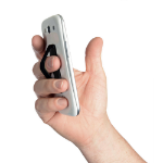 LMS DATA Secure Finger-loop Smartphone Holder with Fold-out Bipod, Black (PH-FNG-STRP)