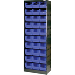 FSMISC CABINET 30 POLYPROP BINS GRY BLK