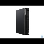 Lenovo ThinkCentre M70q DDR4-SDRAM i3-10100T mini PC 10th gen Intel® Core™ i3 8 GB 128 GB SSD Windows 10 Pro Black