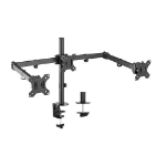 Brateck Triple Screens Economical Double Joint Articulating Steel Monitor Arms, Extended Arms & Free Rotated