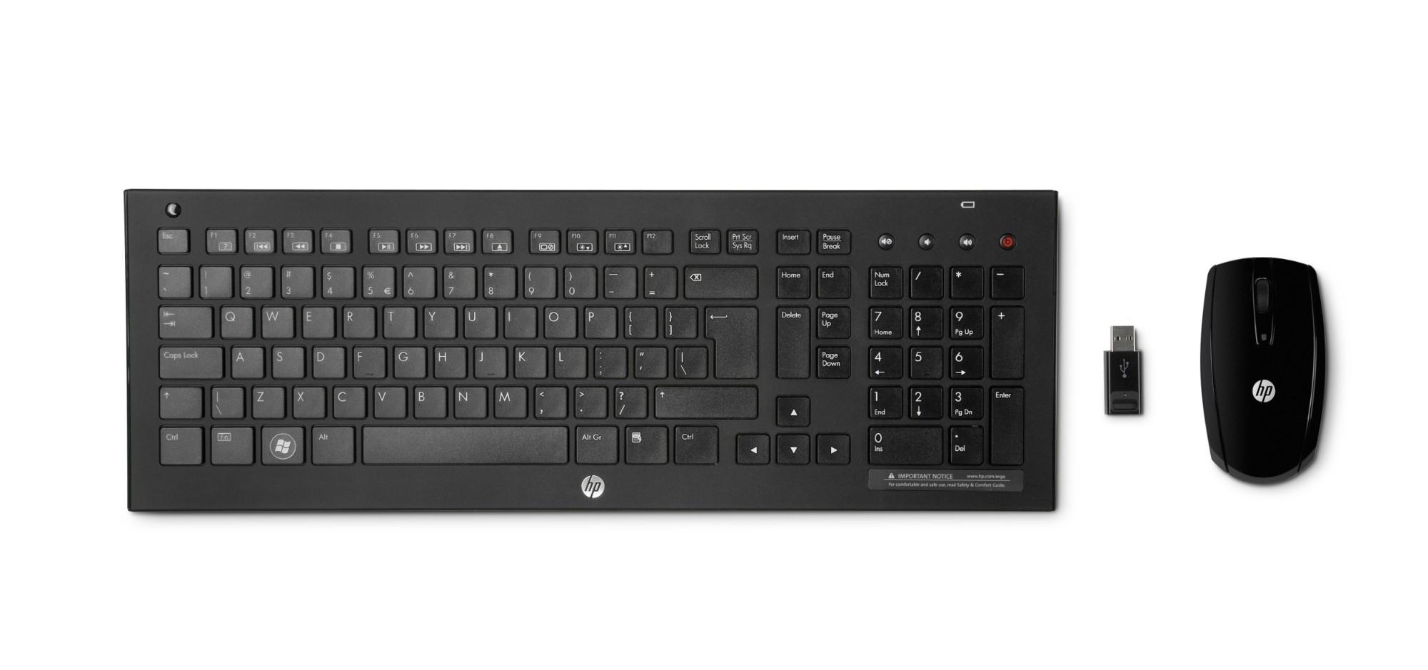 HP C7000 keyboard RF Wireless Norwegian Black