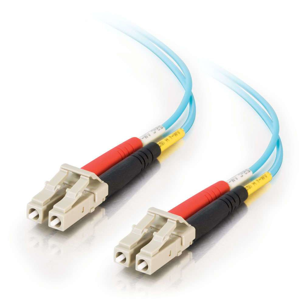 C2G 2m LC-LC 10Gb 50/125 OM3 Duplex Multimode PVC Fibre Optic Cable (LSZH) - Aqua